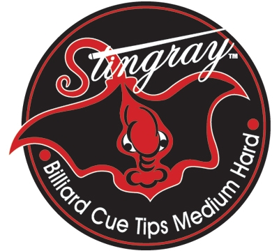 Billiards Pool 8 ball cue tip logo